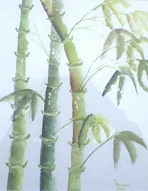 Giuseppe Bufalo dipinto bambù 300