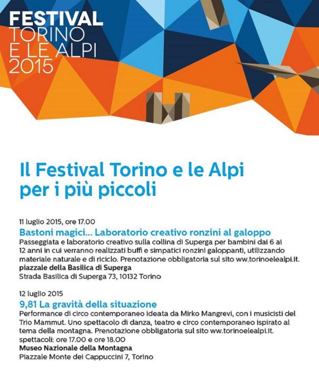 Torino e le Alpi - Festival per i più piccoli 2015 650x756