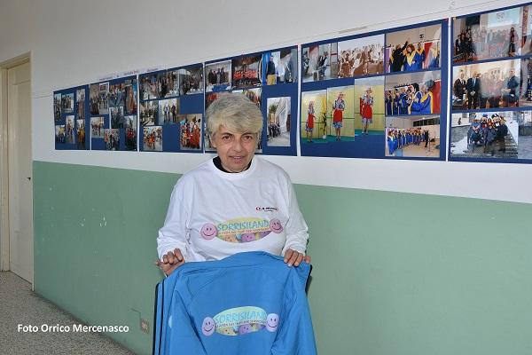 Nicoletta Viali Presidente dell'A. C. Nati per Sorridere mostra fotografica il sorriso di Mercenasco in festa