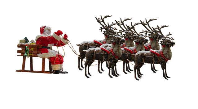 Arriva il Natale_renne e slitta 700
