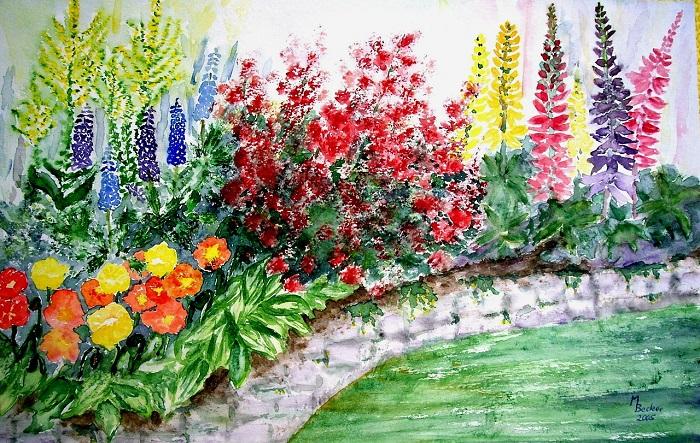 Fiori di primavera dipinti