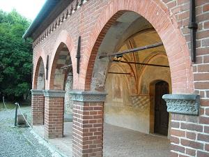 8 settembre 2018 - Castello Malgrà di Rivarolo Canavese_porticato interno