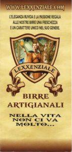 Lexxenziale la birra artigianale motto1
