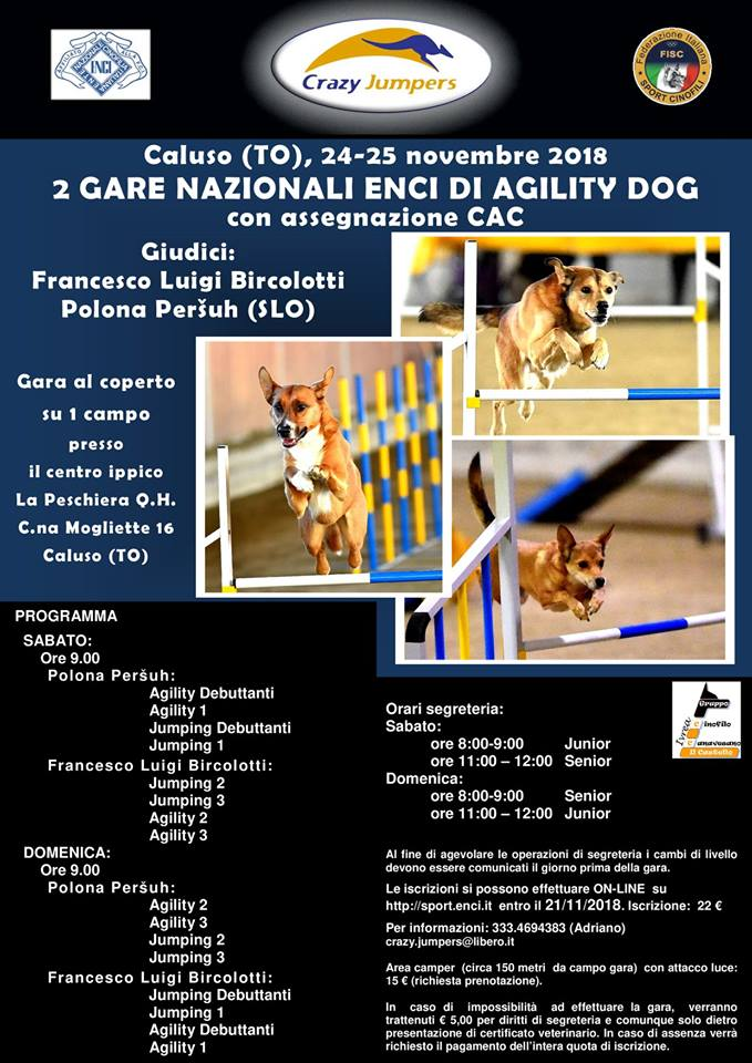 Agility Dog La Peschiera 24-25 nov 2018_locandina