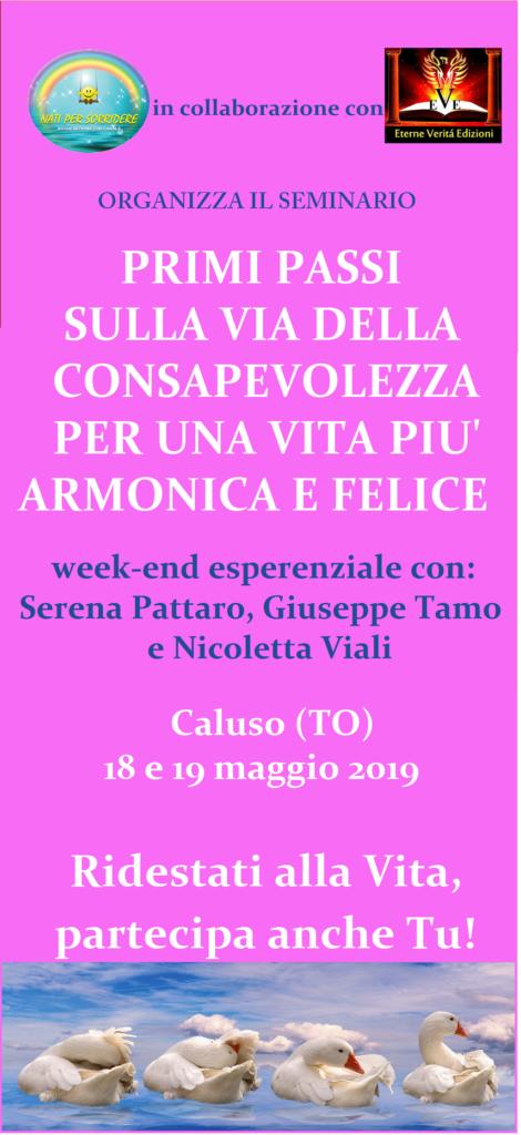 seminario consapevolezza 18/19 maggio 2019